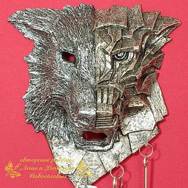 For home and interior handmade. Livemaster - original item Interior mask-housekeeper Wolf.. Handmade.