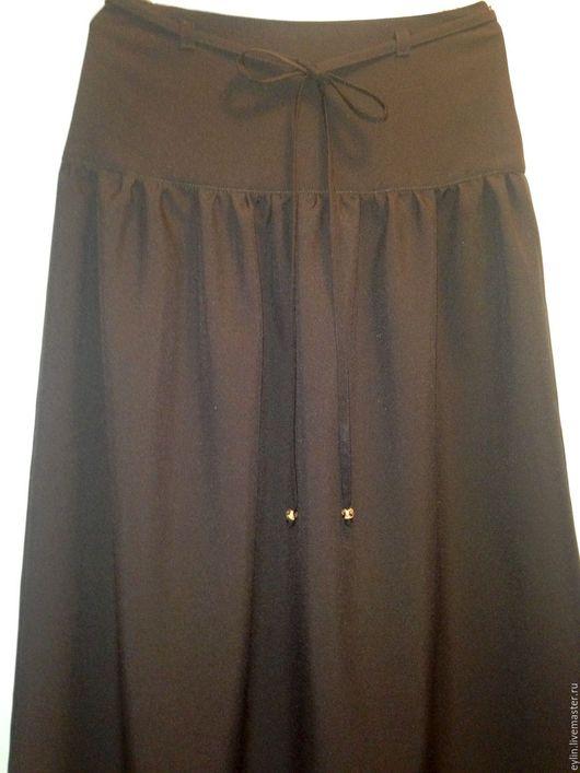 Юбки ручной работы. Ярмарка Мастеров - ручная работа. Купить Длинная юбка коричневого цвета. Handmade. Коричневый, однотонный