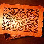 Для дома и интерьера handmade. Livemaster - original item Personalized jewelry box is made of plywood (large). Handmade.