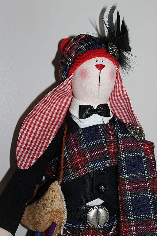 Игрушки животные, ручной работы. Ярмарка Мастеров - ручная работа. Купить Заяц- шотландец Макинтош. Handmade. Кукла, заяц