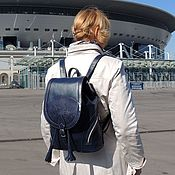 Сумки и аксессуары handmade. Livemaster - original item Backpack women`s leather blue Valerie Modes R50-761. Handmade.