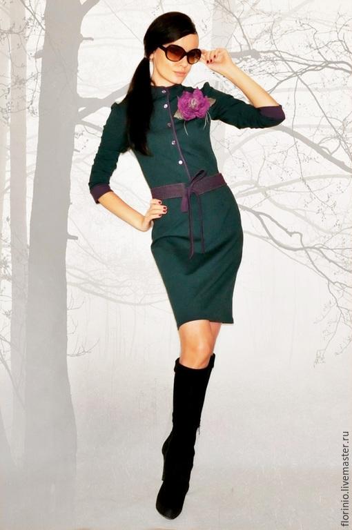 Платья ручной работы. Ярмарка Мастеров - ручная работа. Купить Платье Brigite. Handmade. Однотонный, вискозный трикотаж