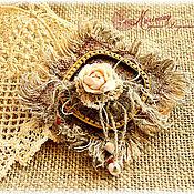 """Украшения ручной работы. Ярмарка Мастеров - ручная работа Бохо брошь  """"По волне моей памяти..."""". Handmade."""