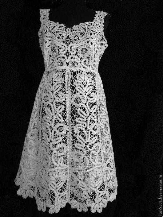 "Dresses handmade. Livemaster - handmade. Buy Dress ""Frosty patterns""..Cotton, summer clothes"