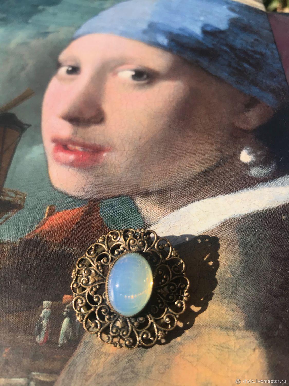 Brooch, handkerchief clip 'moonlight', Holland, Vintage accessories, Arnhem,  Фото №1