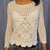 """Одежда ручной работы. Ярмарка Мастеров - ручная работа Пуловер вязаный ажурный """"цветок"""". Handmade."""