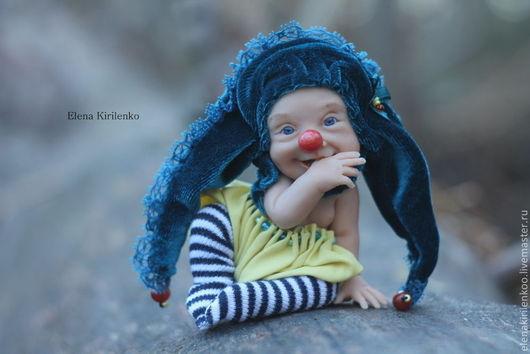 Коллекционные куклы ручной работы. Ярмарка Мастеров - ручная работа. Купить Шут. Handmade. Желтый, шут, бархат