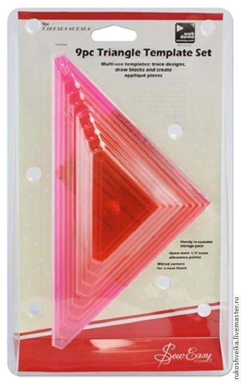 Шитье ручной работы. Ярмарка Мастеров - ручная работа. Купить Набор из 9 лекал разных размеров для создания треугольников. Handmade.