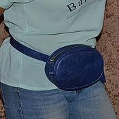 Поясная сумка ручной работы. Ярмарка Мастеров - ручная работа Сумка поясная кожаная Сумочка из натуральной кожи на пояс. Handmade.