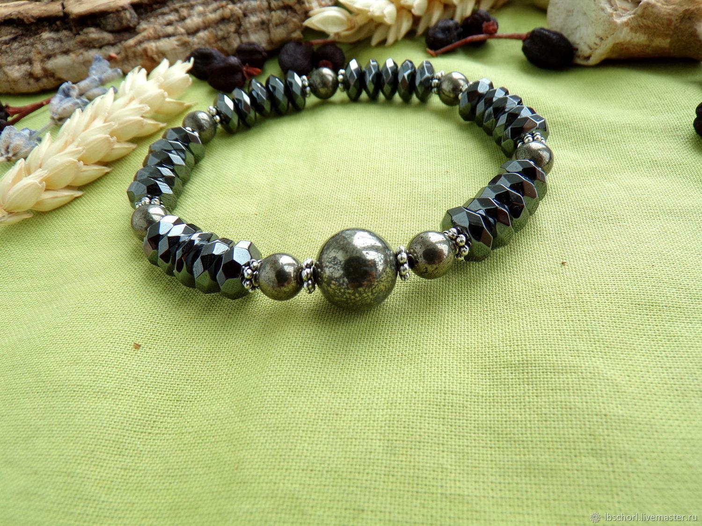 Bracelet with hematite and pyrite, Amulet, Ekaterinburg,  Фото №1