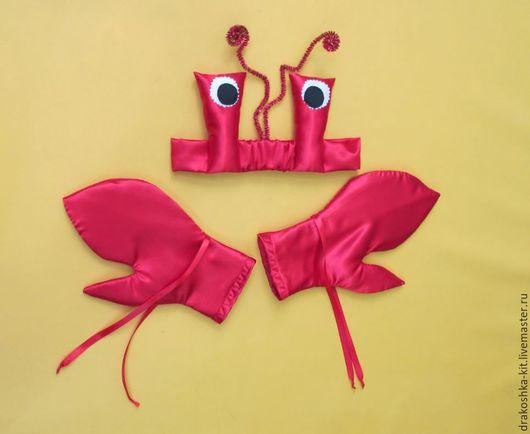 Детские карнавальные костюмы ручной работы. Ярмарка Мастеров - ручная работа. Купить Костюм морского жителя. Красный краб. Handmade.