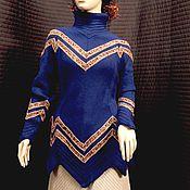 Одежда ручной работы. Ярмарка Мастеров - ручная работа Свитер спицами - Remembering Nefertiti.. Handmade.