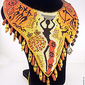 Украшения ручной работы. Ярмарка Мастеров - ручная работа Колье Африканочка. Handmade.