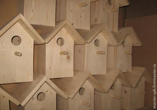 Скворечник деревянный со съемной крышкой