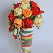 Цветы и флористика ручной работы. Ярмарка Мастеров - ручная работа Интерьерная композиция в вазе с цветной солью. Handmade.