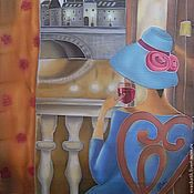 Картины и панно ручной работы. Ярмарка Мастеров - ручная работа Картина батик на шёлке Воспоминания. Handmade.
