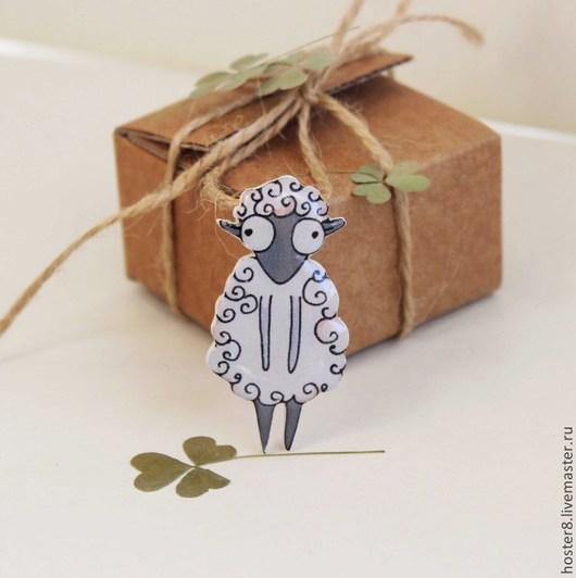 """Броши ручной работы. Ярмарка Мастеров - ручная работа. Купить Брошь """"Овечка"""" (0061). Handmade. Брошь, броши, овечка"""