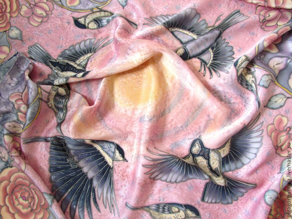 фото батик птицы