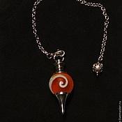 Фен-шуй и эзотерика handmade. Livemaster - original item Lampwork light red 40mm Gemstone Ball Pendulum Chakra Pendant. Handmade.