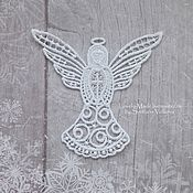 Подарки к праздникам handmade. Livemaster - original item A Christmas Angel. Christmas tree ornament (lace). Handmade.