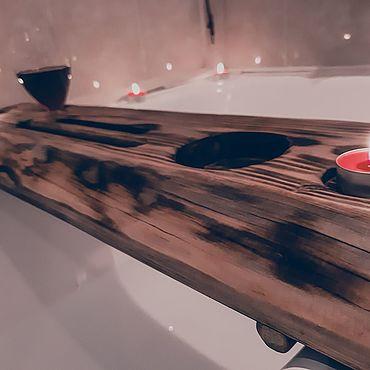Мебель ручной работы. Ярмарка Мастеров - ручная работа Полка на ванную. Полка в ванную комнату. Полка из массива.. Handmade.