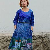 """Валяное платье """"Город"""""""