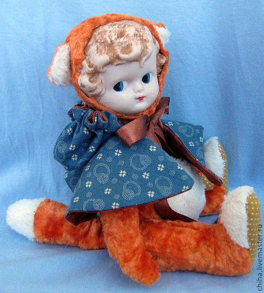 Мишки Тедди ручной работы. Ярмарка Мастеров - ручная работа. Купить Лиса Лиска. Handmade. Лиса, подарок, Винтажный плюш