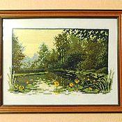 """Картины и панно ручной работы. Ярмарка Мастеров - ручная работа Вышивка крестиком """"Болото в лесу"""". Handmade."""
