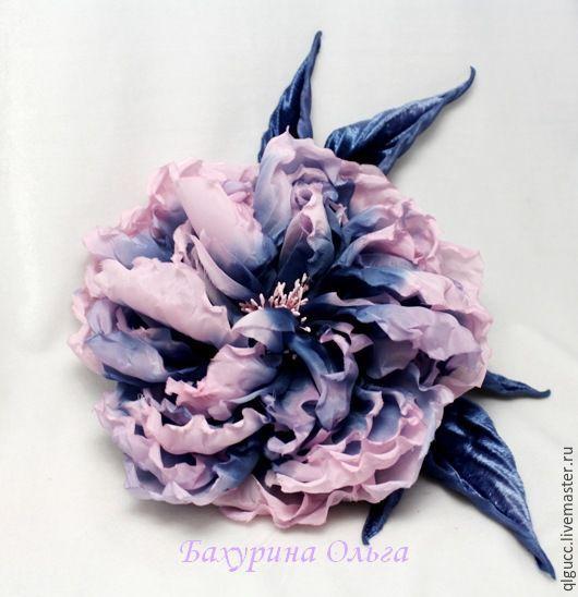 Броши ручной работы. Ярмарка Мастеров - ручная работа. Купить Цветы из шёлка.Роза Маура. Handmade. Комбинированный, цветы из ткани