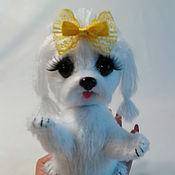 Мягкие игрушки ручной работы. Ярмарка Мастеров - ручная работа Вязаная собака. Handmade.