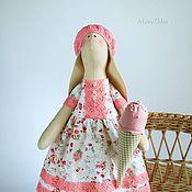 Куклы и игрушки handmade. Livemaster - original item Bunny Tilda Strawberry ice-cream. Interior toy coral white. Handmade.