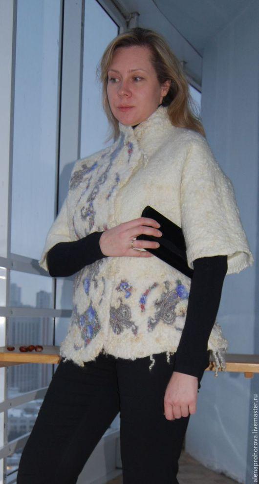 """Верхняя одежда ручной работы. Ярмарка Мастеров - ручная работа. Купить Пальто валяное """"Зимушка"""". Handmade. Белый, пальто на подкладе"""