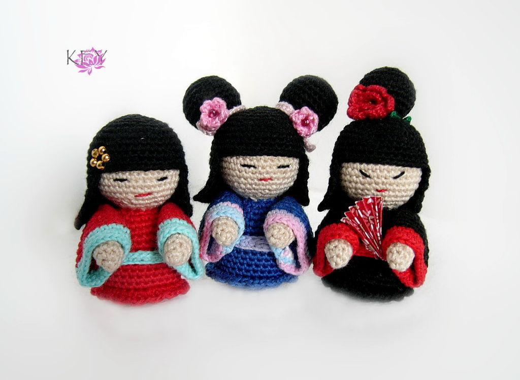 Японское вязание игрушки