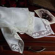 Винтаж ручной работы. Ярмарка Мастеров - ручная работа Дамский французский платочек. Handmade.