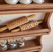 """Для дома и интерьера ручной работы. Ярмарка Мастеров - ручная работа """"Папричи"""", Настенная открытая деревянная полка на кухню для специй. Handmade."""