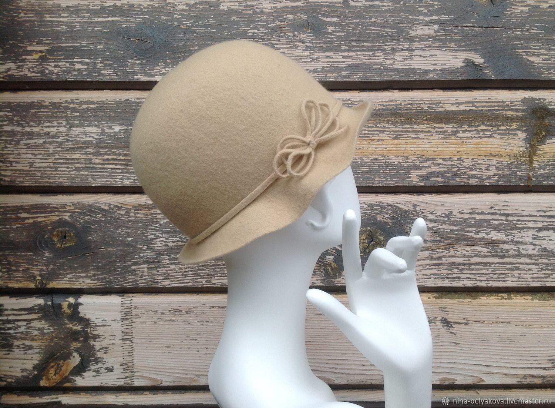 Women's felt hat ' Vanilla', Hats1, Petrozavodsk,  Фото №1