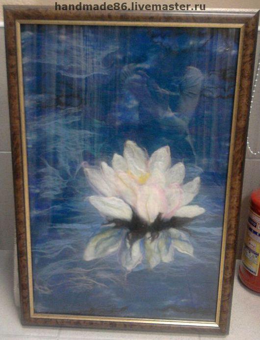 Картины цветов ручной работы. Ярмарка Мастеров - ручная работа. Купить Лотос. Handmade. Картина в подарок, авторская работа, картина