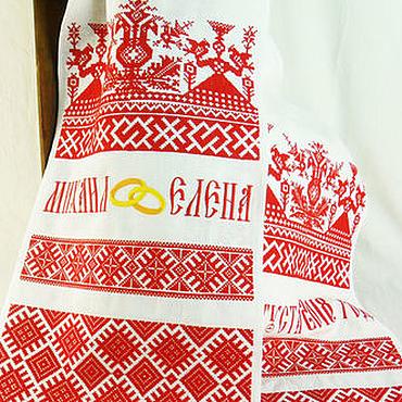 Свадебный салон ручной работы. Ярмарка Мастеров - ручная работа Свадебный рушник Славянские символы обереги вышивка Вышитый рушник. Handmade.