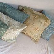 Для дома и интерьера ручной работы. Ярмарка Мастеров - ручная работа комплект из 5 чехлов на подушки  Мята. Handmade.
