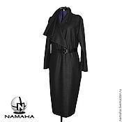 Одежда ручной работы. Ярмарка Мастеров - ручная работа Пальто демисезонное из шерсти, женское пальто асимметричное. Handmade.
