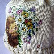 Работы для детей, ручной работы. Ярмарка Мастеров - ручная работа Хлопковая шапочка Ёжик-2.... Handmade.