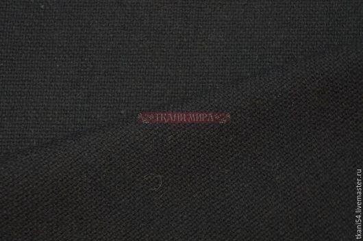 Шитье ручной работы. Ярмарка Мастеров - ручная работа. Купить Ткань пальтовая компаньон, 150 см, черный. Handmade. Черный