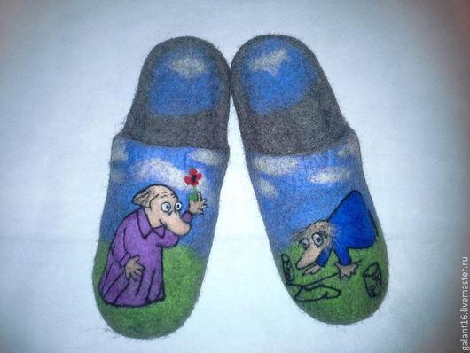 """Обувь ручной работы. Ярмарка Мастеров - ручная работа. Купить """"Хемуль"""" валяные тапки. Handmade. Валяные тапки, необычный подарок"""