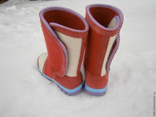 Обувь ручной работы. Ярмарка Мастеров - ручная работа. Купить Детские валенки на подошве. Handmade. Валенки, валенки для девочки
