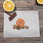 Картины и панно handmade. Livemaster - original item Cross Stitch Juicy Orange. Handmade.
