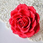 Работы для детей, handmade. Livemaster - original item Loom bands for hair with rose