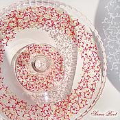 Посуда ручной работы. Ярмарка Мастеров - ручная работа Блюдо для торта Ягодка. Handmade.