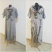 """Одежда ручной работы. Ярмарка Мастеров - ручная работа платье """" пять оттенков серого"""". Handmade."""