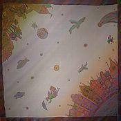 """Аксессуары ручной работы. Ярмарка Мастеров - ручная работа Шелковый платок """"Круиз"""". Handmade."""