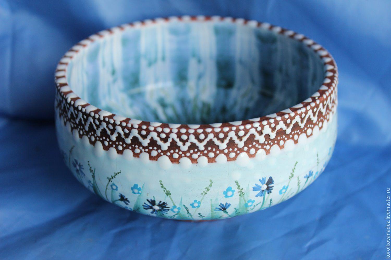 Керамика.Гончарная посуда.Тарелка,конфетница,салатник, Тарелки, Смоленск, Фото №1